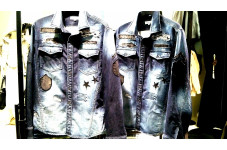 MEN'S ITEM  S/S 『REMAKE EMBROIDERED DENIM SHIRTS』