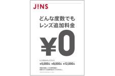 どんな度数でも、レンズの追加料金は0円です。
