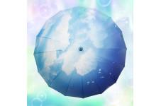 「雨のち晴れ」青空柄の傘