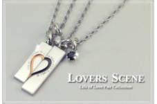 LOVERS SCENE シルバーペアネックレス