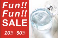 MAX50%OFFのFun Fun Sale♪