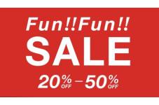 最大50%OFFのFun!!Fun!!SALE!!開催中♪♪