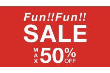 いよいよスタート!最大50%OFFのFun‼Fun‼SALE‼