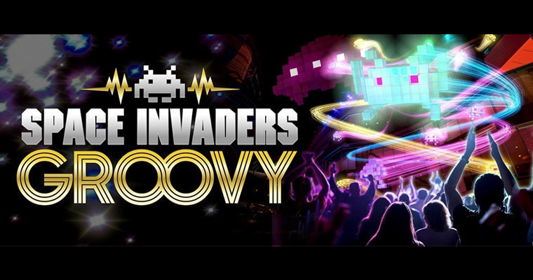 「SPACEINVADERS GROOVY  ~INVADE CANALCITY~」观众参与形式的运河城全景水舞表演