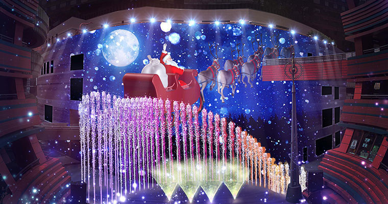 Christmas Panorama ~Santa Claus is coming to canal~