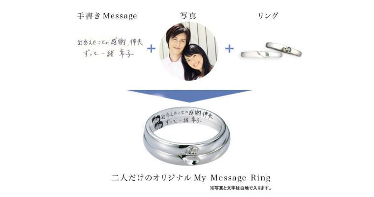 青い鳥☆オリジナル結婚指輪『My Message 』